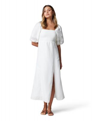 Forever New Indiana Lace Spliced Midi Dress
