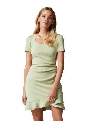 Forever New Alyssa Scoop Neck Frill Dress