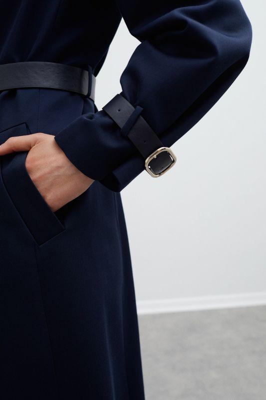Perspective Jef Dark Blue Trench Coat