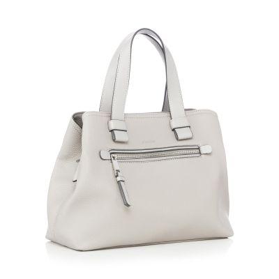 Principles Grey Faux Leather 'Pippa' Grab Bag