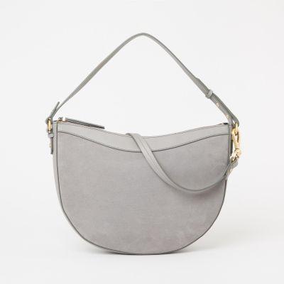 KLEY Grey Half Moon 'Everly' Shoulder Bag