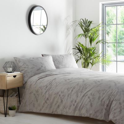 Debenhams Light Grey 'Ava' Jacquard Duvet Set