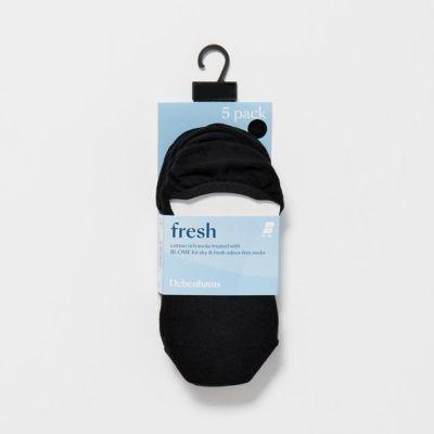 Debenhams 5 Pack Black No Show Socks