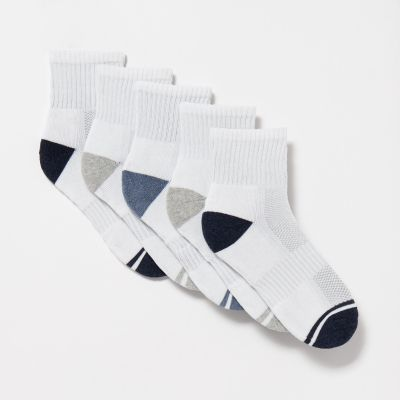 Debenhams Pack of 5 White Quarter Length Socks