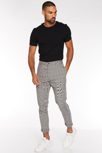 Quizman Prince of Wales Check Trouser with Taping