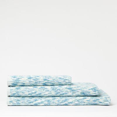 Debenhams Turquoise Striped Cotton Towels