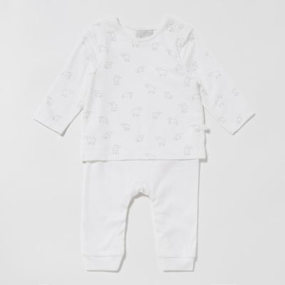 J by Jasper Conran Baby Girls' Lamb Mockable Romper Suit