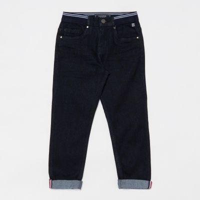 Maine New England Boys' Blue Ribbed Waist Cotton Denim Jeans