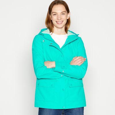 Maine New England Dark Turquoise Shower Resistant Jacket