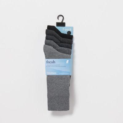 Freshen Up Your Feet Pack Of 5 Grey Socks