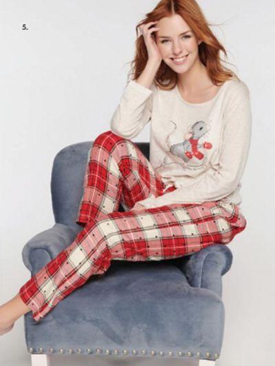 Mandco woven pyjama set star and mouse
