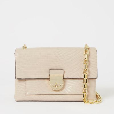 J by Jasper Conran Cream Faux Leather 'Paris' Shoulder Bag