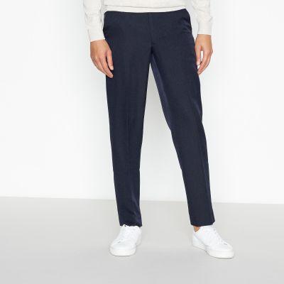 1778 Navy Herringbone Slim Fit Trousers