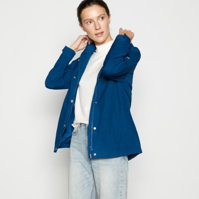 Maine New England Dark Blue Rain Resistant Jacket