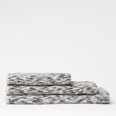 Debenhams Black Striped Cotton Towels