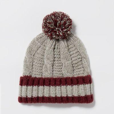 Mantaray Grey Boucle Bobble Hat