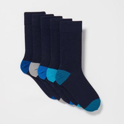 Debenhams Pack Of 5 Navy Socks