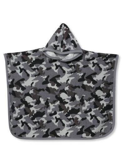 Mandco Camo Print Towel Poncho