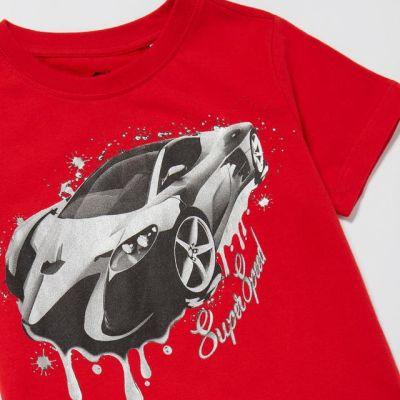 bluezoo Boys' Red 'Car' T-Shirt