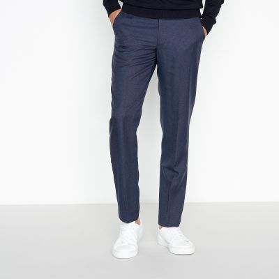 1778 Navy Pindot Slim Fit Trousers