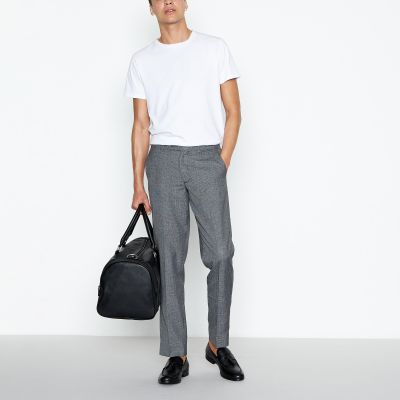 1778 Grey Grindle Check Slim Fit Trousers