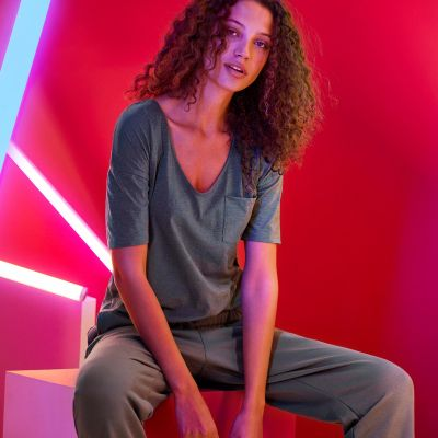 Debenhams Dark Grey Cotton-Blend 'Easy' Pyjama T-Shirt