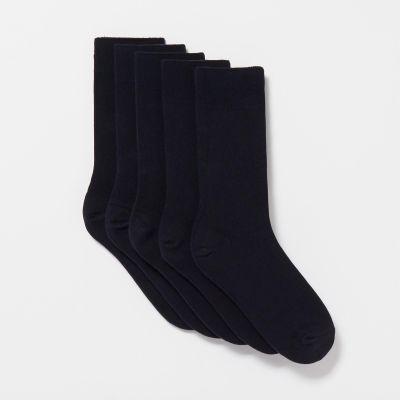 Freshen Up Your Feet Pack of 5 Navy Plain Socks