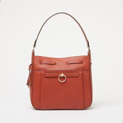 J by Jasper Conran Orange Small Ring 'London' Hobo Bag