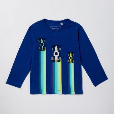 bluezoo Boys' Blue Racecar Sweater