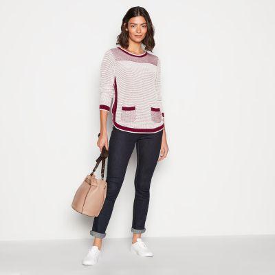 Mantaray Pink 'Birdseye' Cotton Knit Jumper