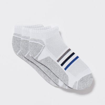 Debenhams 3 Pack White Coolmax Technical Trainer Socks