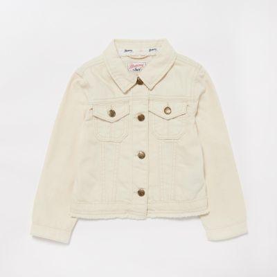 Mantaray Girls' Natural Denim Jacket