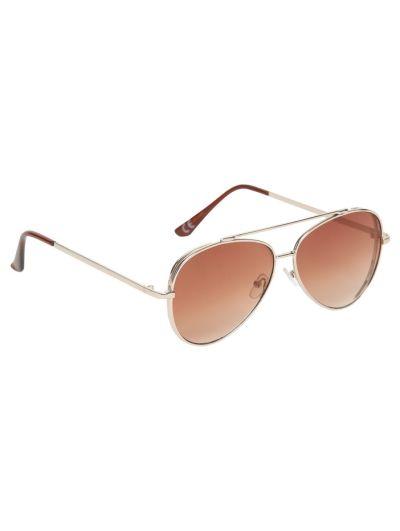 Mandco Brown Aviator Sunglasses